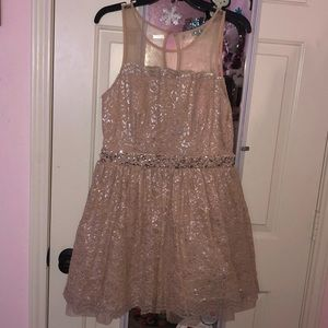 Pink Lace Homecoming/Prom Dress